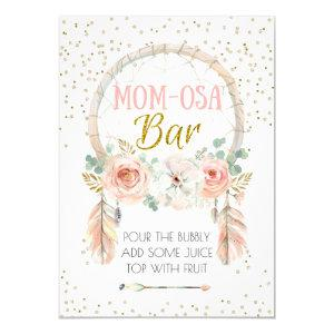 "Boho Dream-catcher Momosa Bar Sign 5x7"" Invitation starting at 2.40"