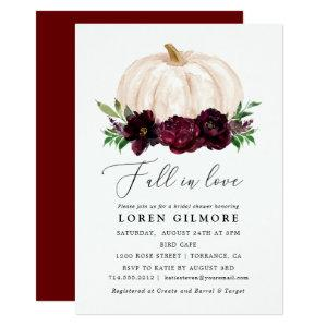 Boho Fall In Love Floral Pumpkin Bridal Shower Invitation starting at 2.36