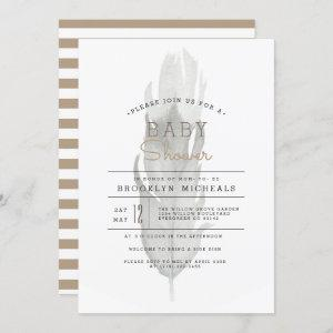 Boho Feather  | Watercolor Baby Shower Invitation starting at 2.55