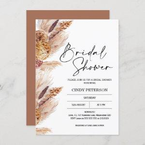 Boho Pampas Grass Bridal Shower Invitation starting at 2.10