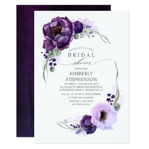 Boho Purple Floral Royal Bridal Shower Invitation starting at 2.51