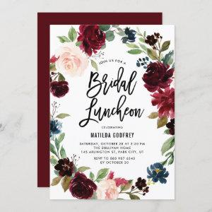 Boho Watercolor Autumn Floral Bridal Luncheon Invitation starting at 2.40