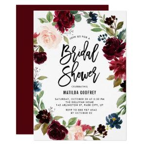 Boho Watercolor Autumn Floral Wreath Bridal Shower Invitation starting at 2.15