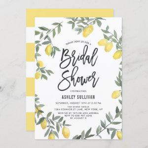 Boho Watercolor Lemon Wreath Bridal Shower Invitation starting at 2.40