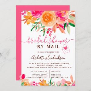 Bold fall floral watercolor bridal shower by mail invitation starting at 2.40