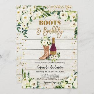 Boots and Bubbly Bridal Shower Invitation starting at 2.66