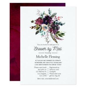 Bordo Violet Plum Floral Bridal Shower by Mail Invitation starting at 2.66