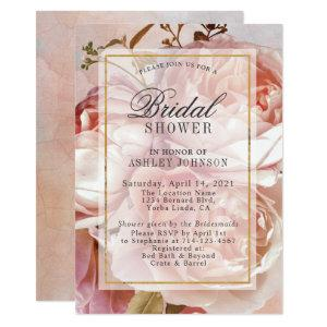BOTANICAL FLORAL PEONY | Bridal Shower Invitation starting at 2.15