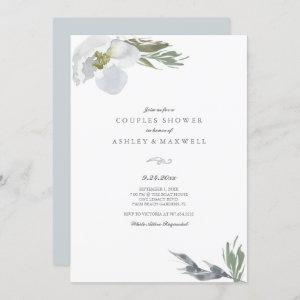 Botanical Green & White Shower Watercolor Florals starting at 2.35