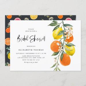 Botanical Lemons and Oranges Garland Bridal Shower Invitation starting at 2.40