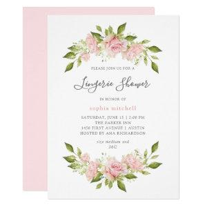 Bountiful Roses | Pink Floral Lingerie Shower Invitation starting at 2.55
