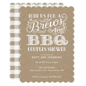 Brews and BBQ Couples Shower on Kraft Invitation starting at 2.86