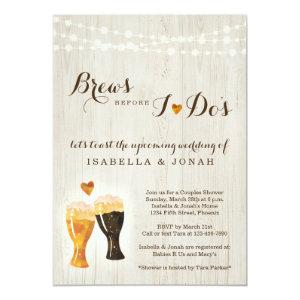 Brews Before I do's Beer Brewery Couple Shower Invitation starting at 2.51