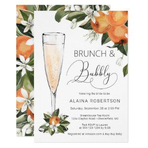 Bridal Brunch and Bubbly Orange Blossom Mimosa Invitation starting at 2.40