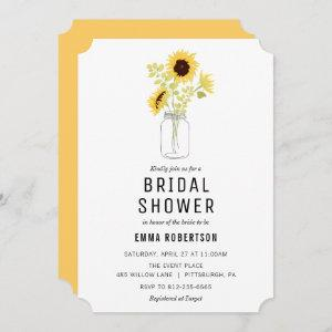 Bridal Brunch Sunflower Bouquet Shower invitation starting at 2.76