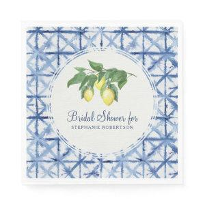 Bridal Luncheon Citrus Lemon Leaf Foliage Shibori Napkins starting at 44.60