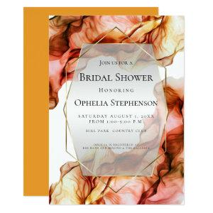 BRIDAL SHOWER | Abstract Watercolor Autumn Color 2 Invitation starting at 2.66