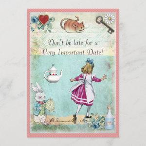 Bridal Shower Alice in Wonderland Don't Be Late Invitation starting at 2.66