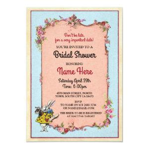 Bridal Shower Alice Wonderland Rabbit Party Invite starting at 2.51