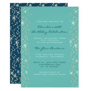 Bridal Shower Birthday Coral Confetti Blue Invitation starting at 2.40