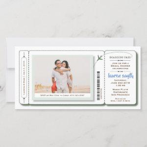 Bridal Shower Boarding Pass Photo Invite starting at 2.45
