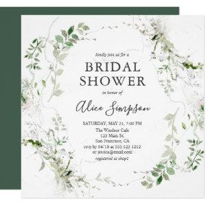 Bridal Shower Botanical Greenery Modern Invitation starting at 2.30