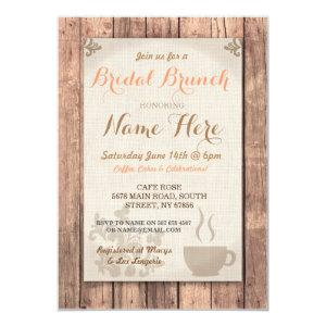 Bridal Shower Brunch Friends Coffee Rustic Invite starting at 2.51