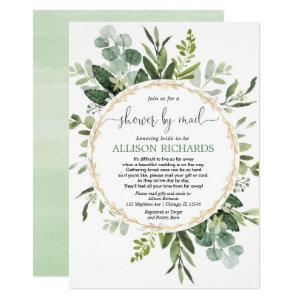 Bridal shower by mail greenery gold eucalyptus invitation starting at 2.25