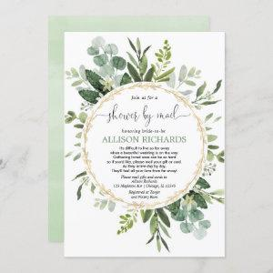 Bridal shower by mail greenery gold eucalyptus starting at 2.55