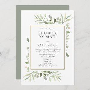 Bridal Shower By Mail Long Distance Greenery Invitation starting at 2.51