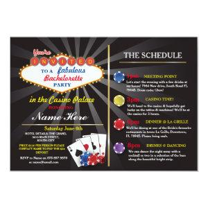 Bridal Shower Casino Vegas Itinerary Bachelorette Invitation starting at 2.51