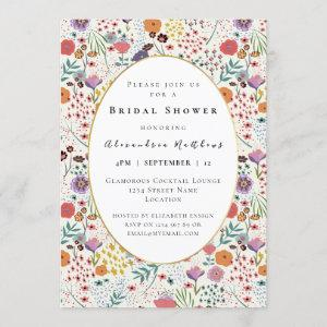 Bridal shower colorful flowers Spring floral Invitation starting at 2.50