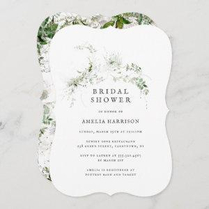 Bridal Shower Elegant Earthy Greenery Watercolor Invitation starting at 2.60