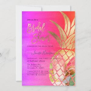 Bridal Shower, Faux Gold Watercolor Pineapple Save The Date starting at 2.62