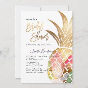 Bridal Shower, Faux Gold Watercolor Pineapple Save The Date starting at 2.57