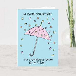 Bridal Shower Gift for Future Sister in Law. Invitation starting at 3.45