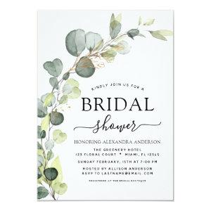 Bridal Shower Greenery Eucalyptus Succulent Invitation starting at 2.51