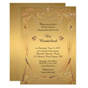 Bridal Shower Honoring, great Gatsby, GOLD Invitation starting at 2.66