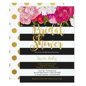 Bridal Shower Invitation - Floral Black White starting at 2.66