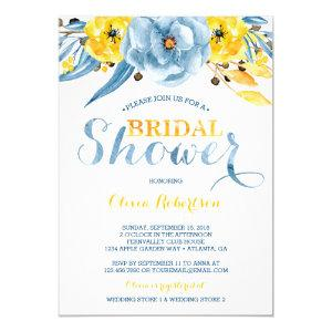 Bridal Shower Invitation, Floral Watercolor Invitation starting at 2.45