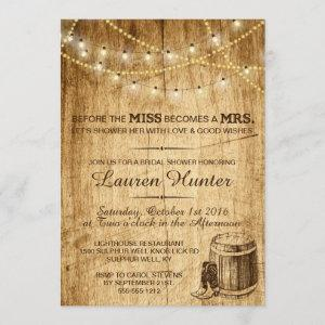Bridal Shower invitation for a country wedding starting at 2.66