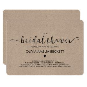 Bridal Shower Invitation - Kraft starting at 3.15
