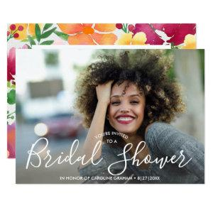 Bridal Shower Invitation Photo, Watercolor Flowers starting at 2.51