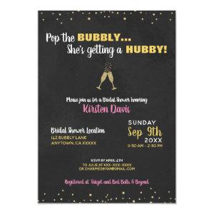 Bridal Shower Invitation Pop the Bubbly starting at 2.40