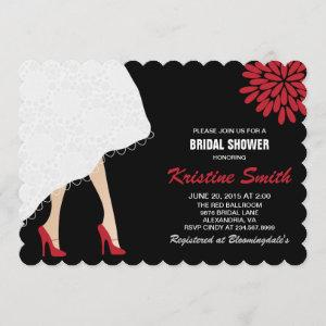 Bridal Shower Invitation w/ Red High Heel Shoes starting at 2.65