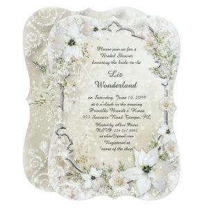 Bridal Shower invitation,Winter Wonderland,bracket Invitation starting at 2.91
