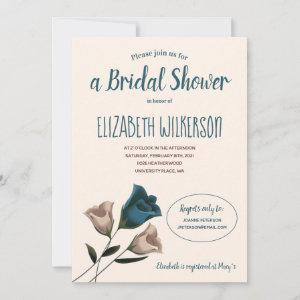 Bridal Shower Invitation with Teal Roses starting at 2.10