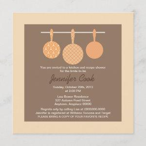 Bridal Shower Invitations Kitchen Cooking Theme starting at 2.41