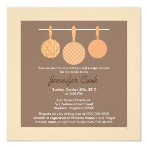 Bridal Shower Invitations Kitchen Cooking Theme starting at 3.56
