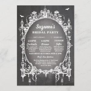 Bridal Shower Itinerary Bachelorette Gothic Frame starting at 2.51